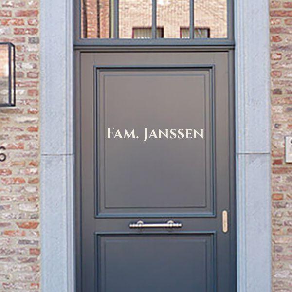 Naamsticker voordeur lettertype 3